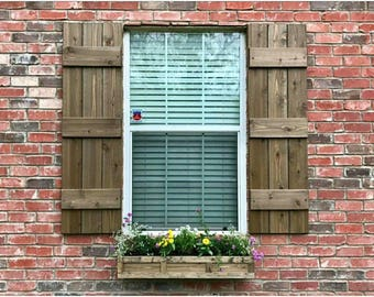 Stained shutters Etsy
