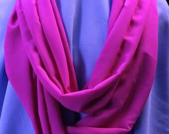Infinity Scarf, Hot Pink, Chiffon
