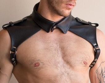 Shoulder collar leather harness