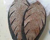 Leather Feathers - Custom Listing for P. Andrea