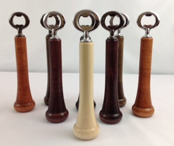 custom engraved baseball bat handle bottle opener. Black Bedroom Furniture Sets. Home Design Ideas