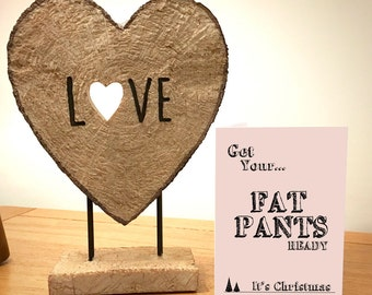 Get Your Fat Pants Ready - Blank Greeting Card - Christmas Art - Christmas Card - Blank