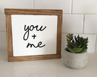 You and me - bedroom decor - rustic sign - rustic decor - farmhouse