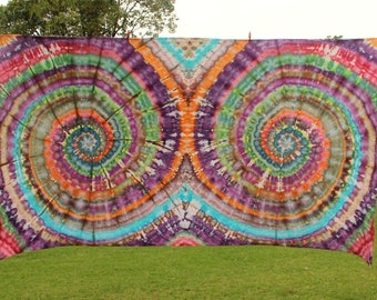 3x1.5m Double Spiral Tie Dye Tapestry
