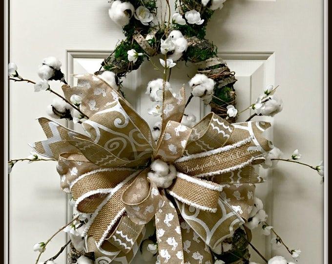 Farmhouse Bunny Door Hanger- Wreath