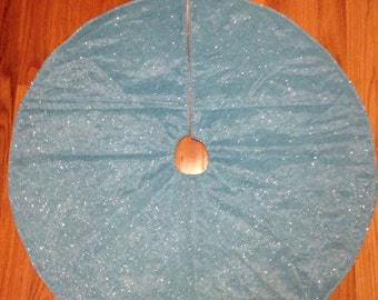 Blue Tree Skirt Etsy - Blue Christmas Tree Skirt