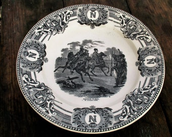 Collector Cabinet Plate Napoleon Bonaparte Bataille D'iéna Keramis Boch Belgium