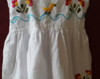 Sweet Oaxacan Embroidered Infant Sun Dress