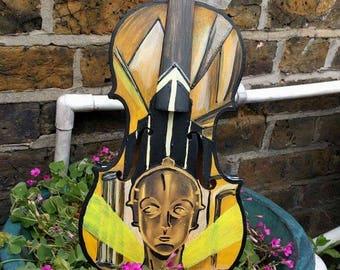Metropolis upcycled violin