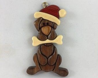 Wooden Dog Ornament