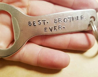Brother Gift Beer Personalized Bottle Opener Keychain Best
