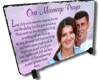Personalized Marriage Prayer Stone Plaque