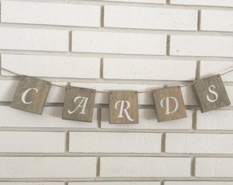 Rustic Cards Wedding Banner