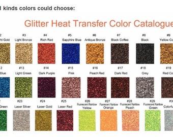 "5 12x12"" Glitter HEAT TRANSFER vinyl sheet, Glitter HTV, Heat Transfer Vinyl"
