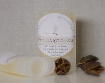 VANILLA MUSK LOTION  - Lotion Stick - Bee's Botanics Handmade - 100% Natural