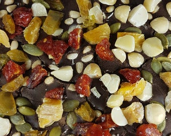 Rich Combo Chocolate bar, with nuts and dried fruits, chocote nuts bar, chocolate fruits bar, dark chocolate bar