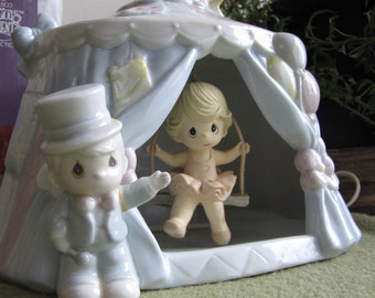 Precious Moments Circus Dreams Under the Big Top Nightlight Nursery Home Décor 1994