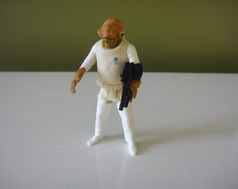 Vintage Star Wars  - Admiral Ackbar - Power of the Force - Star Wars Action Figure - 1997