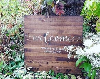 Wedding Welcome Sign - Rustic Wood Wedding Sign - Sophia Collection