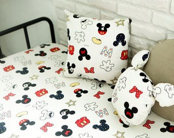 Disney Micky Mouse Cotton Fabric by Yard