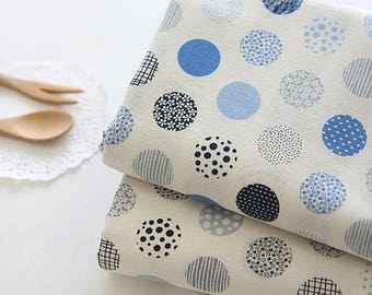Patterned Dots Cotton Fabric by Yard - 2 Colors Selection