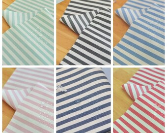 Laminated Stripe Pattern Cotton Fabric - 6 Colors Selection
