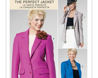McCall's Sewing Pattern M6172 Misses' Lined Blazers in Three Lengths