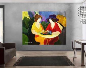 Itzchak Tarkay Art Print (1935 – June 3, 2012)  collection art print Large Size