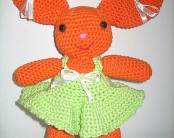 AMIGURUMI Teddy bear blanket 100% cotton dress