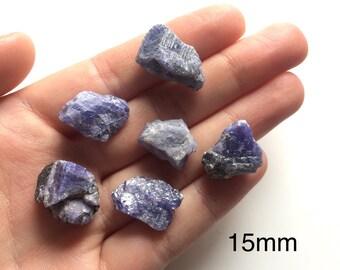Blue tanzanite raw natural rough crystal one peice