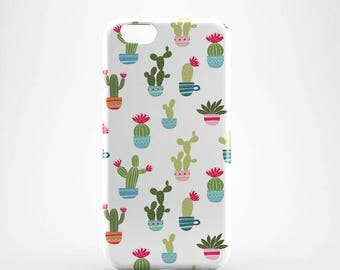 Cactus  Hard case 3D case Apple iPhone 4 5 6 7 Samsung Galaxy S6 S7  #30