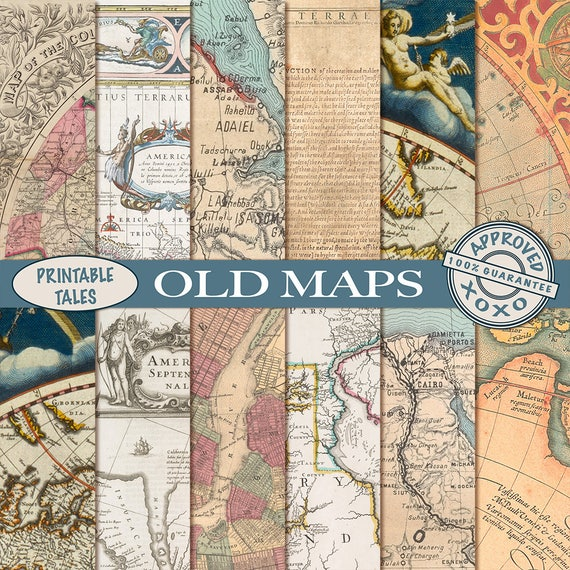 Old maps digital papers vintage map download grungy te gusta este artculo gumiabroncs Image collections