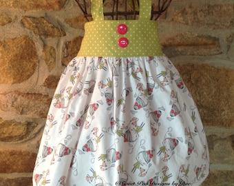 Girls halter dress, baby halter dress, Summer sundress, cat dress, summer halter dress, girls clothing