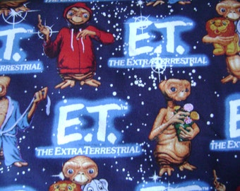 ET Packed Animals Glow Cotton Fabric Sold by the Yard