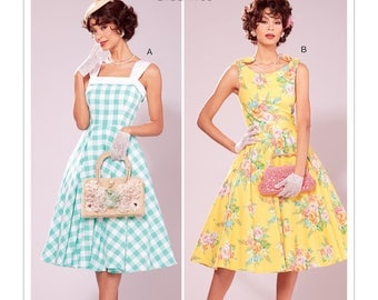 McCall's Pattern M7599 Misses' Lined Flared Dresses with Petticoat
