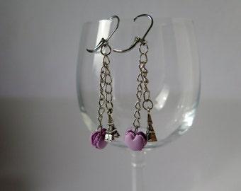 Macaron earrings.
