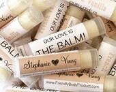 Wholesale Lip Balms - 50 Natural Lip Balms - Soy Wax, Beeswax - Lip Balm Favors Gift Wedding Bridal Custom Label Bulk Chapstick Shower Gift