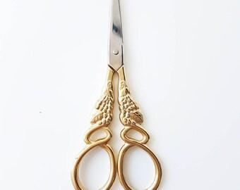 Gold Vintage Embroidered Scissors