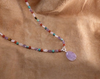 Long amethist necklace. Now 20% off