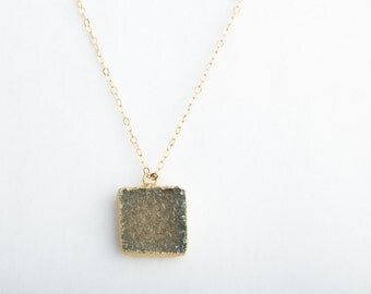 Evergreen Druzy Crystal Necklace