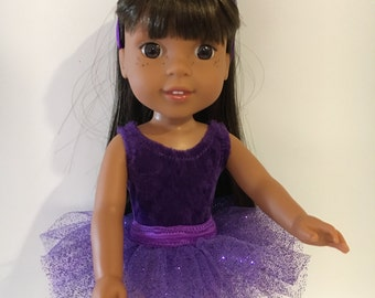 14.5 inch doll 3 piece ballet outfit