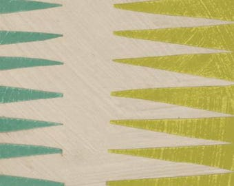 Teal Pueblo Stripe Cotton Woven, Dreamer by Carrie Bloomston for Windham Fabrics