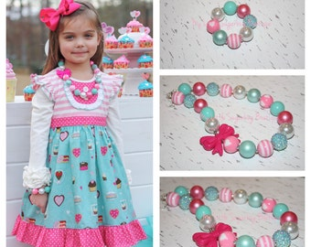 Sugar N Spice Chunky Necklace-M2M Zoe Addelyn-Bubblegum Necklace-Baby-Toddler-Girls-Women