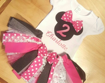 Minnie Mouse Fabric Tutu only!!