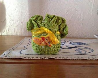 Little tinker bell candle holder handmade crochet