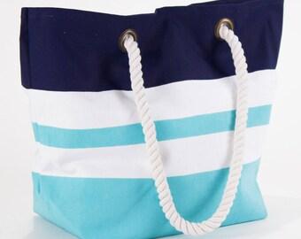 Kids Beach Bag, monogrammed blue beach bag, monogrammed tote, Beach tote, striped beach bag, cute beach bag