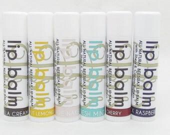 6 Pack Value Bundle Natural Lip Balm | Lip Butter | Handmade Lip Balm | Shea Butter, Cocoa Butter, and Aloe | Value Pack | Lip Balm Bundle