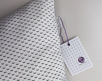 """Custom Printed White Brick Cushion, with Premium Duck Feather Inner Pad. Approx 14""""x14""""."""