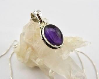 Amethyst pendant. Sterling silver. Amethyst. Jewelry. Jewellery. Necklace. Gemstone jewellery. Gemstone pendant. Amethyst. Silver. Gemstone.