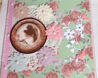 Shabby Chic Handmade 'With Love' Card